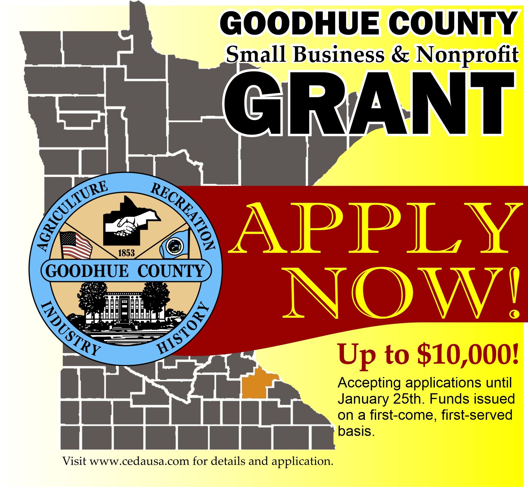 Goodhue County Business and Nonprofit Relief Grant Opens in new window
